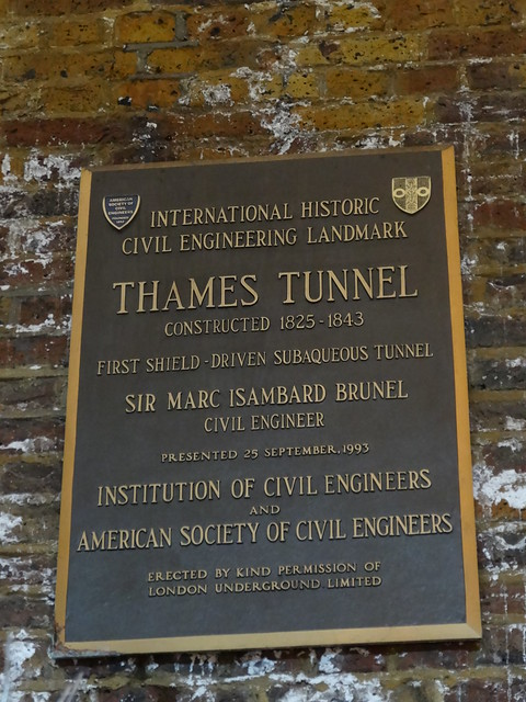 54 - Thames Tunnel plaque