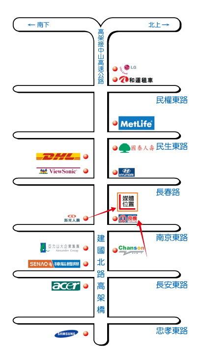 台北市建國北路二段1號map