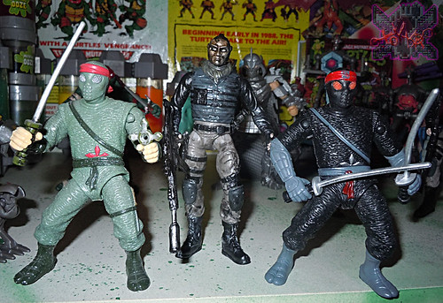 """NINJA TURTLES"" Movie :: FOOT SOLDIER  { tOKKustom PARAMILITARY wash } xviii // ..with 'MOVIE STAR' Foot Soldier '92 & M.S. Foot Soldier BOOTLEG '14 (( 2014 ))"