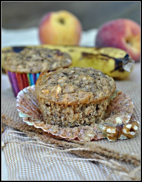 Healthy Banana Oat Muffins 4