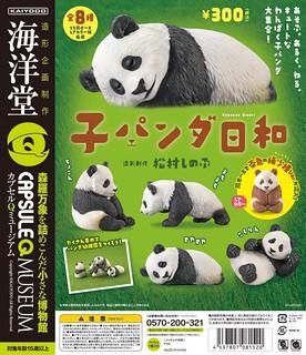 【新增官圖&販售資訊】海洋堂《膠囊Q博物館》小熊貓們 嬉鬧逗趣的日常生活!子パンダ日和
