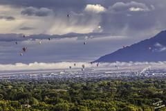 Rising over Albuquerque