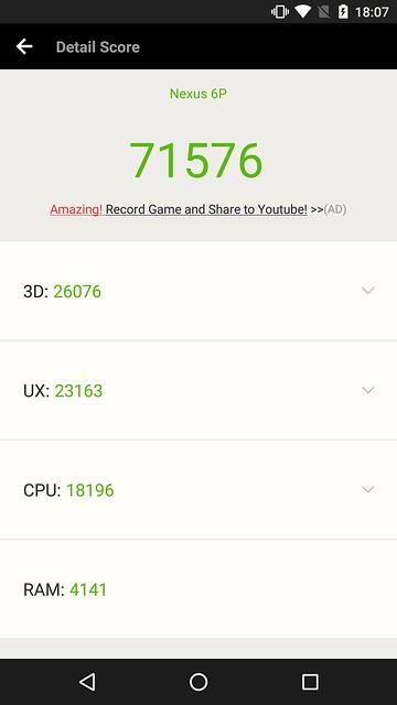 Nexus 6P AnTuTu Benchmark Score