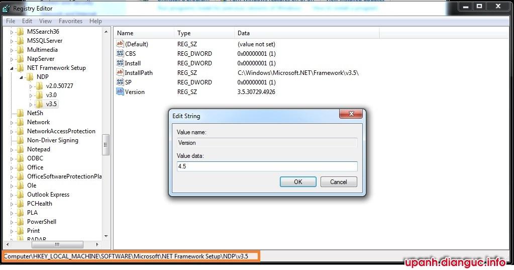 .net framework 4.5 is not installing
