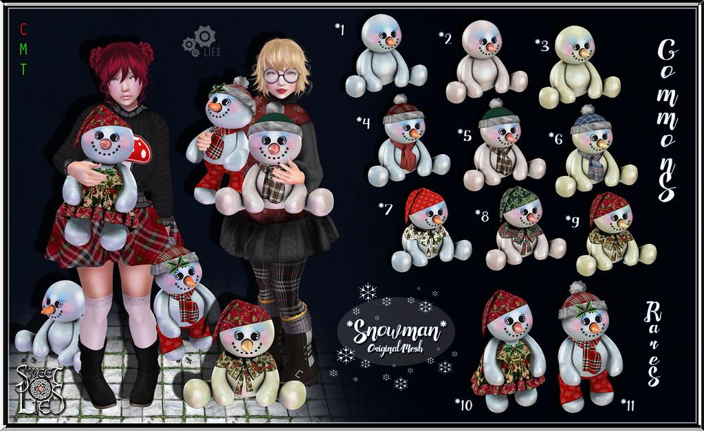 Snowman Gacha - Sweet Lies Original - SecondLifeHub.com