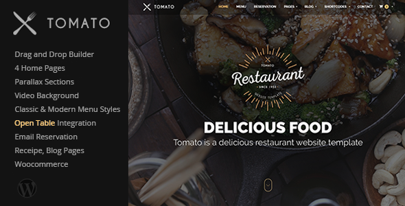 Tomato v1.0.2 - Restaurant, Cafe, Espresso WordPress Theme