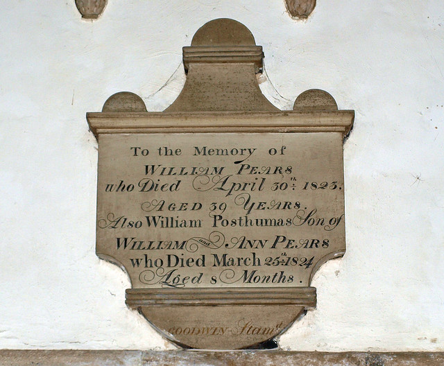 William Pears 1823