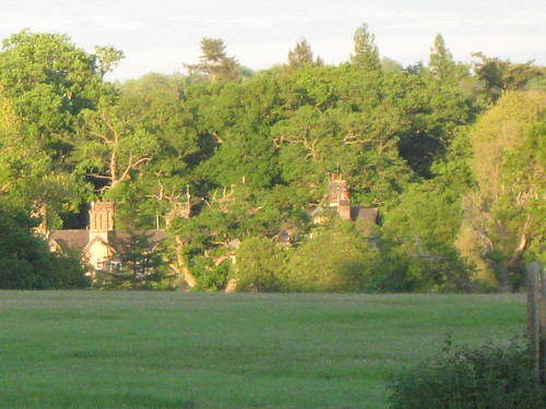 Sandringham house at evening
