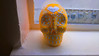 Yellow Painted Skull from Venice Beach, California