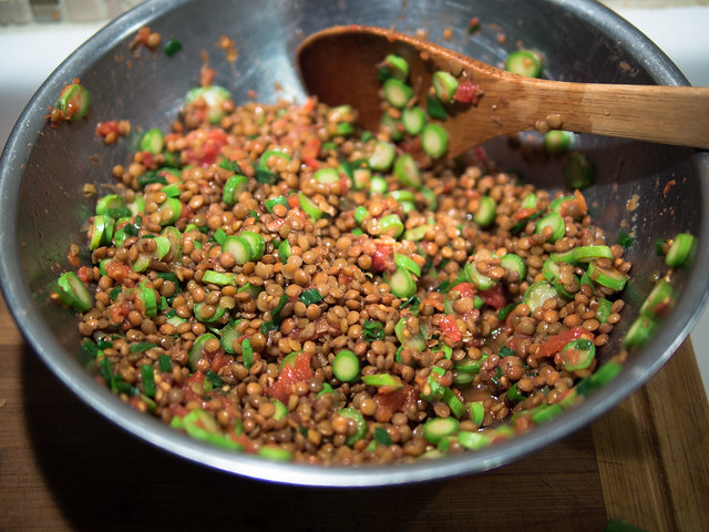 Spring Lentil Salad recipe, lentil salad recipe, how to cook lentils, lentil recipe