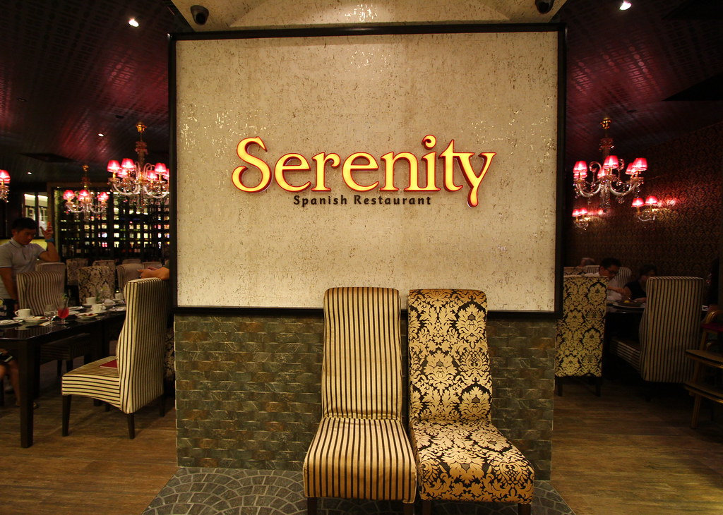 Serenity Spanish Bar & Restaurant Sign