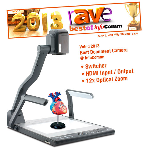 Qomo HiteVision QD3900 HDMI input output document camera