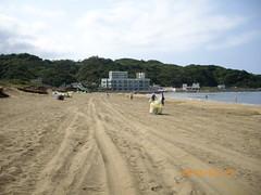 經清理的沙灘