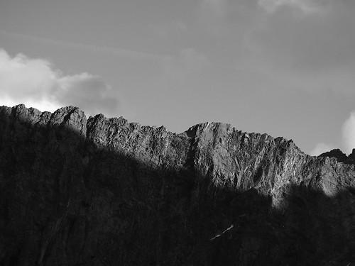bw mountains nature