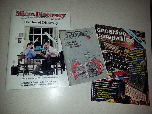 Creative Computing (1978), SoftSide Apple Edition (1980), and Micro Discovery (1983).