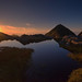 Midnightsun over Myrlandskaret, Flakstad Lofoten islands by steinliland