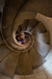Denise in Tower staircase