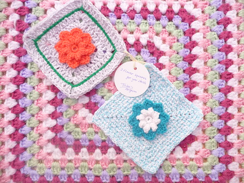 2 Flower Squares for our Stash. Thank you!