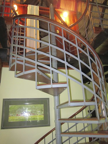 Cool staircase to the loft