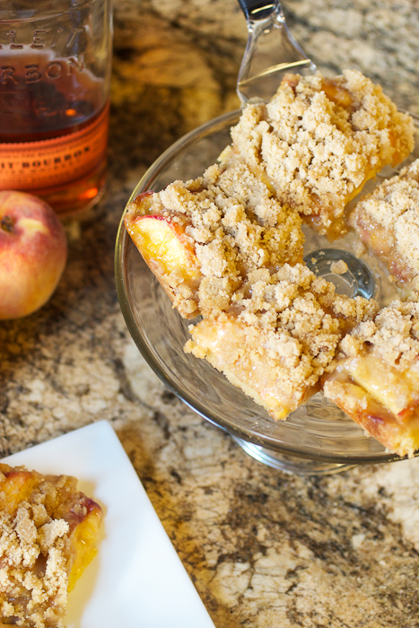 Peach Bourbon Crumb Bars