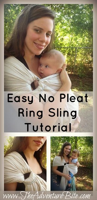 Easy No Pleat Ring Sling Tutorial