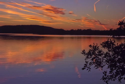 sunset nature water clouds reflections day lakes hillcountry stateparks inkslakestatepark pwpartlycloudy