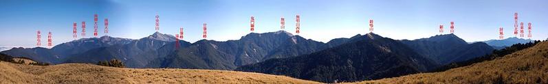 北一、二 段群峰(From 閂山) 1-1