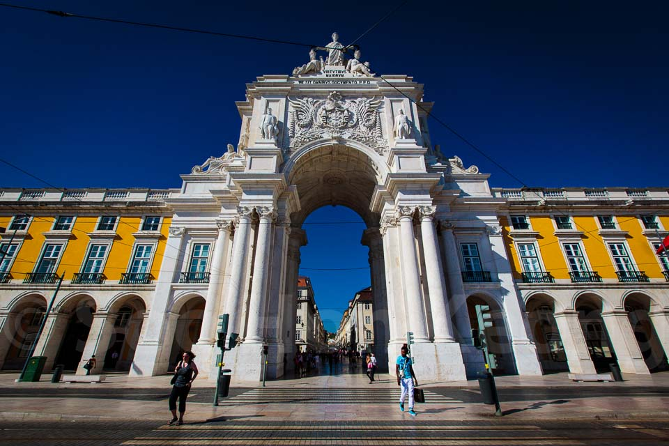 The Triumphal Arch of Rua Augusta @ Lisbon, Portugal