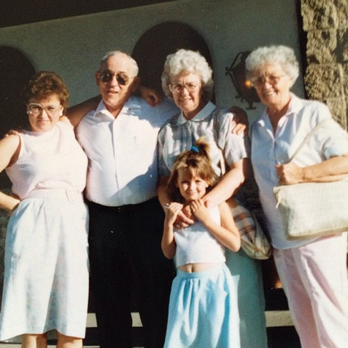 Me and my mama and grandparents and granny. Circa 1980'something.