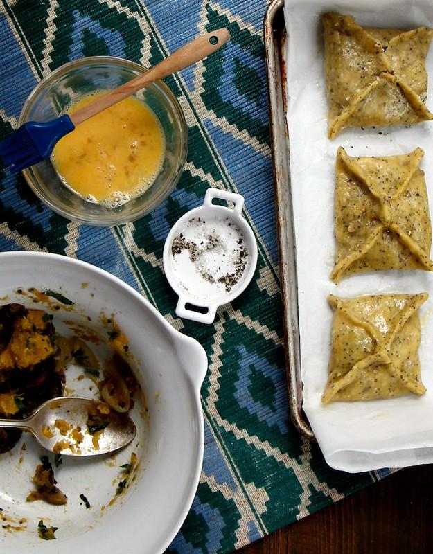 Savory Squash and Mushroom Tarts