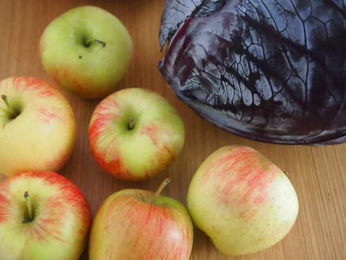 Rode kool met appeltjes