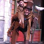 A Christmas Carol, The Musical - Pictured: Vincent Rodriguez (Tiny Tim) and Cole Burden (Bob Cratchit) Photo Credit P. Switzer Photography 2013