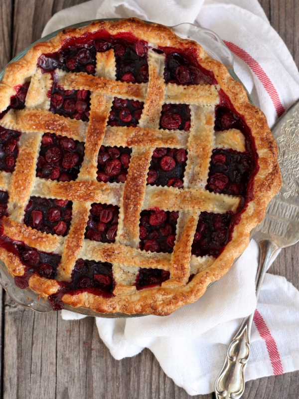 Cranberry Blueberry Pie, perfect for Thanksgiving. From completelydelicious.com.
