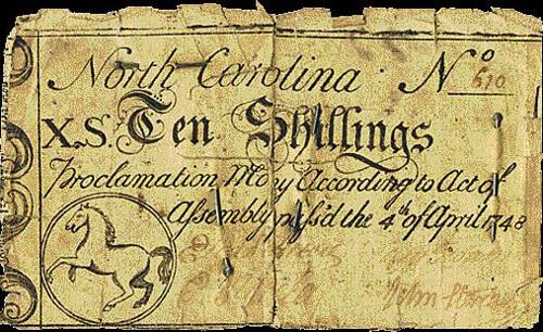 North Carolina note with pin
