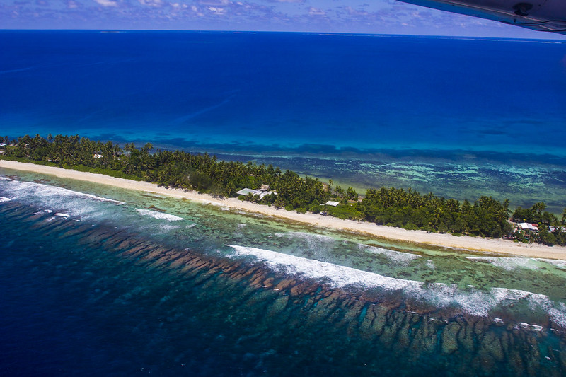 Main Funafuti island, tuvalu