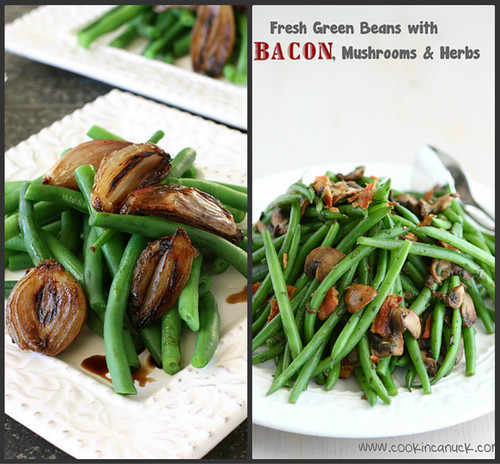 fresh green beans with bacon mushrooms herbs green beans with balsamic ...