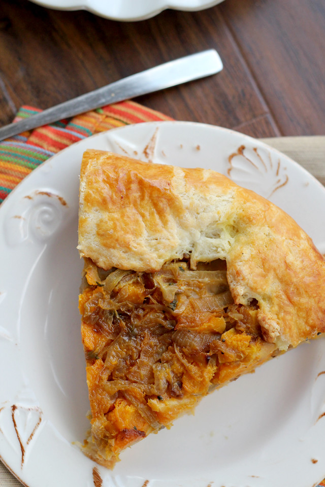 Butternut Squash and Caramelized Onion Galette | Joanne Eats Well With ...