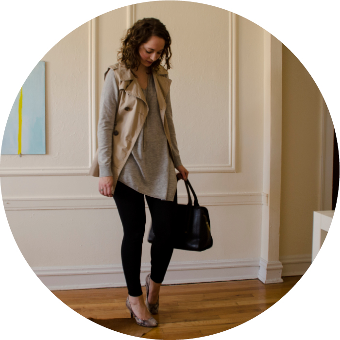fall outfits, trench vest, joie armelio sweater
