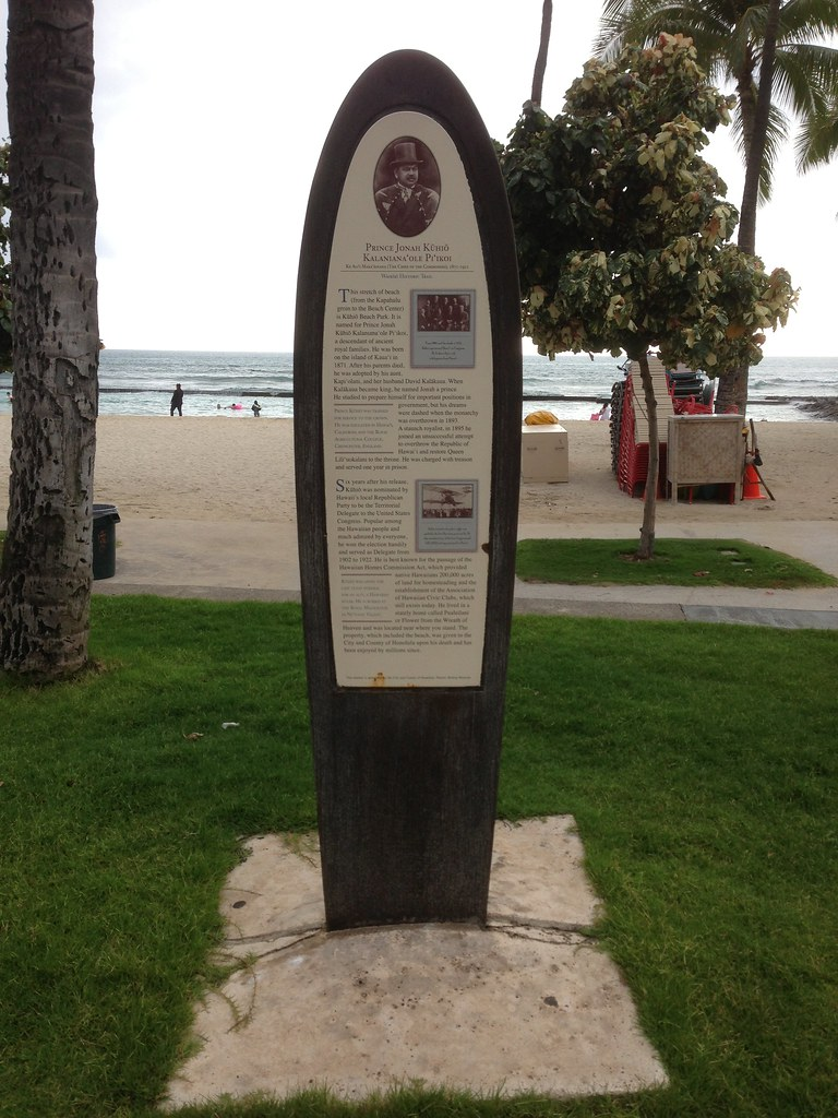 Waikiki Historic Trail Marker #5