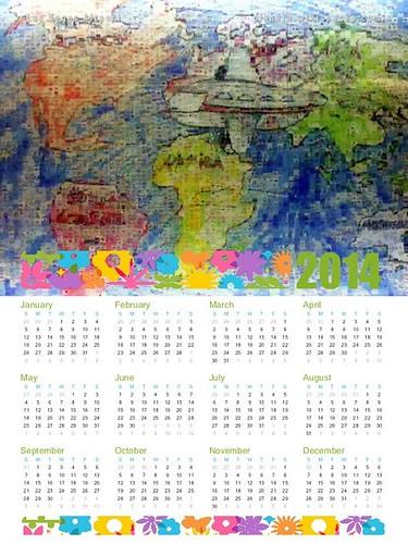 Free 2014 Calendar: Las Vegas Airport Mosaic