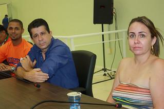 Rodrigo Morais, David Martins e Amélia Domeni