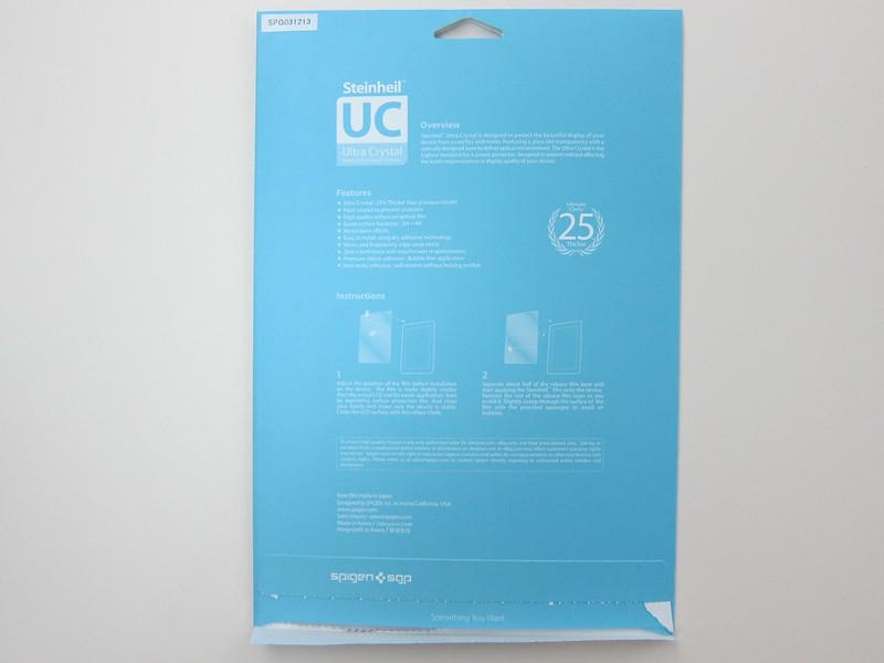Spigen SGP Ultra Crystal Screen Protector - Packaging Back