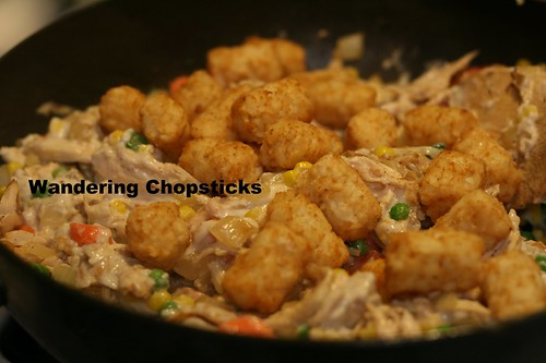 Tater Tot Casserole with Chicken Pot Pie Filling 10