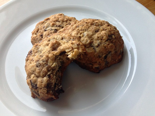 banana-nut oatmeal chocolate chip cookies