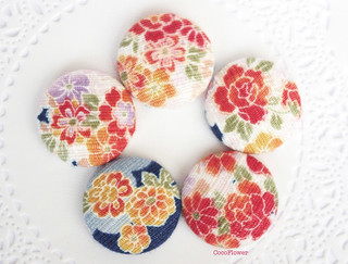 Cabochon Japanese fabric