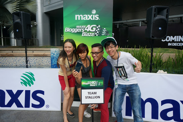 Maxis 4G Bloggers Blaze - team stallion