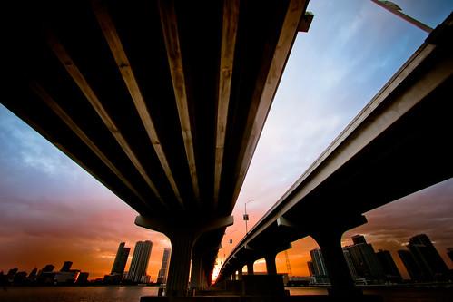 bridge sunset usa bravo unitedstates florida fav50 miami unitedstatesofamerica fav10 fav25 macarthurcauseway fav100 miamidadecounty