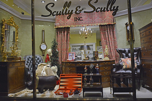 Picture Of 2013 Holiday Window 4 Of Scully & Scully Located At 504 Park Avenue At 59th Street In New York City. Scully & Scully Is A High End Home Goods Store. Photo Taken Thursday December 19, 2013