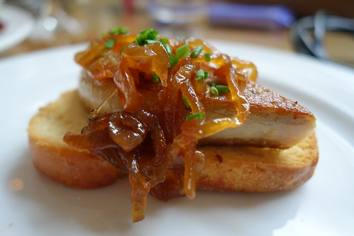 Pan-Fried Foie Gras with Toasted Brioche & Caramelized Onions. Sunday Champagne Brunch. InterContinental Singapore