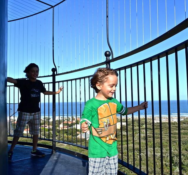 wind at the top of daytona lighthouse florida
